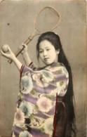 Japon - Geisha Jouant Au Tennis - Japón