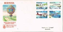 32740. Carta DEVONSHIRE (Bermuda) 1983. 200 Anniversary MANNED FLIGHT, Globus - Bermudas