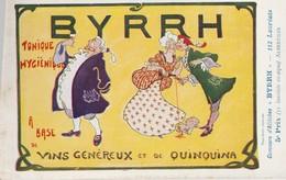 """CONCOURS D'AFFICHES """" BYRRH """" - 5EME PRIX - ALBERTILUS - TRES BELLE CARTE COLORISEE - TOP !!! - Werbepostkarten"""