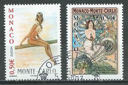 Monaco YT N°2393/2394 Europa 2003 Art De L'affiche Oblitéré ° - Europa-CEPT