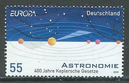 Allemagne YT N°2557 Europa 2009 L'astronomie Oblitéré ° - Europa-CEPT