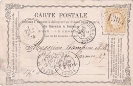 France - Y&T 59 Sur Carte Postale Oblitération GC 1305 - Digny - Eure-et-Loir - Marcophilie (Timbres Détachés)