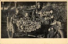 * T2 Z. Sulkowsky Et Gy. Bartha. Le Premier Voyage Complet Autour Du Monde En Moto. 160000 Km De Budapest, Hongrie, 1928 - Postcards