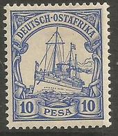 German East Africa - 1901 Kaiser's Yacht 10p Mint Hinged  Sc 14 - Colony: German East Africa