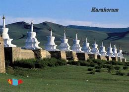 Mongolia Erdene Zuu Monastery Stupas UNESCO New Postcard Mongolei AK - Mongolei