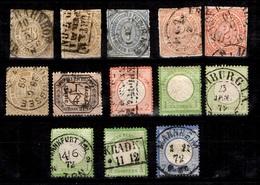 Conf.Allemagne Nord Et Reich Belle Petite Collection De Classiques 1868/1872. Bonnes Valeurs. A Saisir! - Deutschland