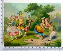CHROMO    LITHOGRAPHIE ....GRAND FORMAT...ENFANTS JOUANT A COLIN- MAILLARD - Old Paper
