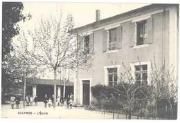 Cpa Ardèche - Salymes - L'école - Francia