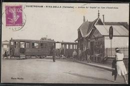 CPA 14 - Ouistreham-Riva-Bella, Arrivée Du Rapide En Gare D'Ouistreham - Ouistreham