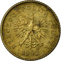 Monnaie, Pologne, Grosz, 1992, Warsaw, TB+, Laiton, KM:276 - Pologne