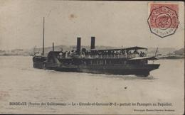 CAD Maritime Octogonal Buenos Ayres à Buenos Ayres 2° N°1 26 Dec 05 CPA Bordeaux Paquebot Gironde + Garonne N°2 - Poststempel (Briefe)