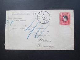 USA 1905 GA Umschlag Carus, Oregon Nach Berlin Via New York Mit Blaustift / Nachporto 40 Pfennig! - Briefe U. Dokumente