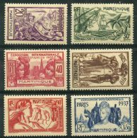 Martinique (1937) N 161 à 166 * (charniere) - Martinique (1886-1947)