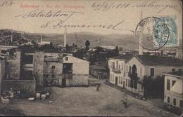 Thessalonique CPA Salonique YT Blanc Levant N° 13 CAD Salonique Qtier Franc Turquie 23 Avril 06 Pothion H I12 - Levant (1885-1946)