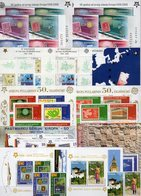 Sale % CEPT Blocks+Bl.Marken ** 483€ Bloque Hoja Blocs Ss Sheets M/s Topics Stamps On Stamp 50 Years Bf EUROPA 2006 - Timbres
