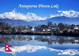 Nepal Himalayas Annapurna Phewa Lake New Postcard - Nepal