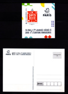 F 2019 / Neuf** Paris' écrit, Adhésif, International, Hors Programme (tirage: 1530 Ex) Timbre + Carte Postale - France
