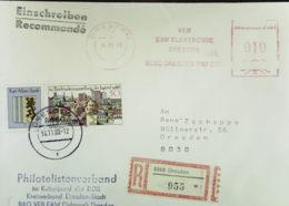 DDR: E-Orts-Brief Mit AFS =DP 010= Und SoMke Mit ZF Als Zusatzfr. Aus 8060 Dresden (955) Vom 14.11.88 Knr: 3176, AFS - DDR