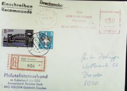 DDR: E-Orts-Brief Mit AFS =DP 050= Und SoMke Als Zusatzfr. Aus 8060 Dresden (956) Vom 14.11.88 Knr: 3176, AFS, Ua. - DDR