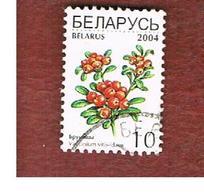 BIELORUSSIA (BELARUS)   - MI 517I - 2004 PLANTS: CRAN       BERRIES  USED - Belarus