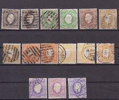 PORTUGAL : 15 EX . OBL . DENTELURES DIVERSES . B . 1870/83 . - Oblitérés