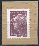France - Marianne De Beaujard Prioritaire 250g YT 4571 Obl. Ondulations Bleues Sur Fragment - 2008-13 Marianne De Beaujard