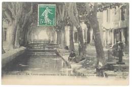 Cpa Graveson - Le Cours Anciennement Le Barri à Cause Des Remparts ... ( Lavoir, Lavandières ) - Frankreich