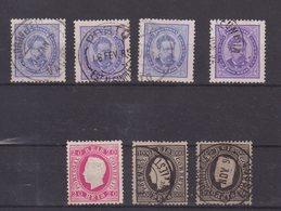 PORTUGAL : 6 EX . OBL . 1* . B à TB . 1882/87 . - Oblitérés