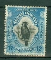 North Borneo: 1909/23   Palm Cockatoo   SG173    12c   Deep Blue [Perf: 13½-14]   Used - North Borneo (...-1963)