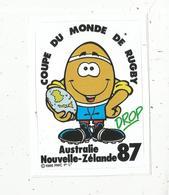 Autocollant , Sports ,RUGBY ,  Coupe Du Monde,Australie Nouvelle Zélande 1987 - Autocollants