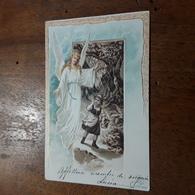 Cartolina Postale Illustrata 1900, Auguri Pasquali, ESD - Ostern