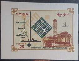 DE22 - Syria 2008 Mini Sheet MNH - Aleppo Capital Of Islamic World 2006 - Syria
