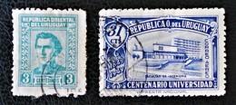 ARTIGAS 1947/51 + ECOLE POLYTECHNIQUE 1949 - YT 550 + PA 145 - Uruguay