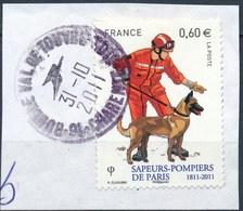 France - Sapeurs-pompiers De Paris  YT 4585 Obl. Cachet Rond Sur Fragment - Oblitérés