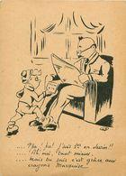Cp ST PAUL EN JAREZ 42 Pub Crayons Marquise - P'pa ! Pa ! J'suis 1er En Dessin - France