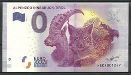 Billet Touristique 0 Euro 2017   ALPENZOO INNSBRUCK Autriche - EURO