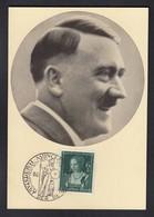 DR Hitler / Portraitkarte Sonderstempel München - Weltkrieg 1939-45
