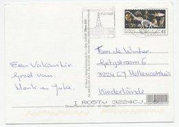 Postcard / Stamp Germany 2010 200 Years Natural History Museum - Dinosaur - Owl - Monkey -Fish - Prehistorie