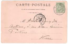 """1900 - CACHET """" PARIS EXPOSITION / BEAUX ARTS """" Sur CP De L'EXPOSITION UNIVERSELLE Pour POITIERS (VIENNE) - 1877-1920: Periodo Semi Moderno"""