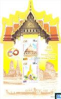 Sri Lanka Stamps 2015, 60 Years Of Diplomatic Relations Between Sri Lanka And Thailand, Joint Issue, Odd Shape, MS - Sri Lanka (Ceylon) (1948-...)