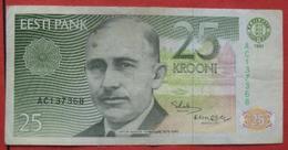 25 Krooni 1991 (WPM 73) - Estland