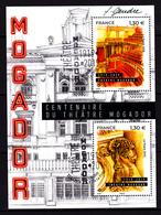 F 2019 / Bloc 2 X 1,30 € N**, Oblitération 1er Jour 12.04.2010 Et Signé F. Gendre, Centenaire Du Théâtre Mogador - Paris - Neufs