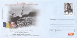 FAMOUS PEOPLE, MARTIN LUTHER KING JR, COVER STATIONERY, ENTIER POSTAL, 2018, ROMANIA - Martin Luther King