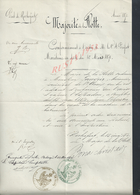 MILITARIA EMPIRE MARINE FREGATE ESPADON MAJORITÉ DE LA FLOTTE À Mr LAUQUIER MECANICIEN ROCHEFORT 1870 AUTOGRAPHE : - Documents
