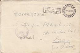 WW2 WARFIELD LETTER, MILITARY CENSORED, POST OFFICE NR 121 STAMPS ON COVER, 1945, ROMANIA - Cartas De La Segunda Guerra Mundial
