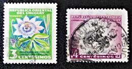 EMISSIONS 154 - OBLITERES - YT 626 + 632 - Uruguay