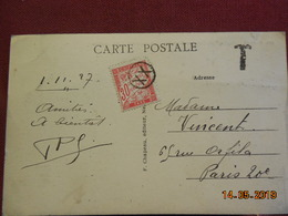 Carte De 1927 à Destination De Paris Avec Taxes - 1921-1960: Periodo Moderno