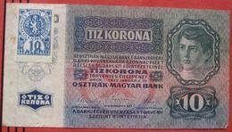 Tiz / 10 Korona  1915 - 10 Haleru 1919 (WPM 1) - Czechoslovakia