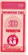 MONGOLI Billet 10 Mohro Tugrik - Tir à L'arc Sport - Mongolie