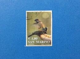 2002 SAN MARINO FRANCOBOLLO USATO STAMP USED I COLORI DLLA VITA UCCELLO 1,00 - San Marino